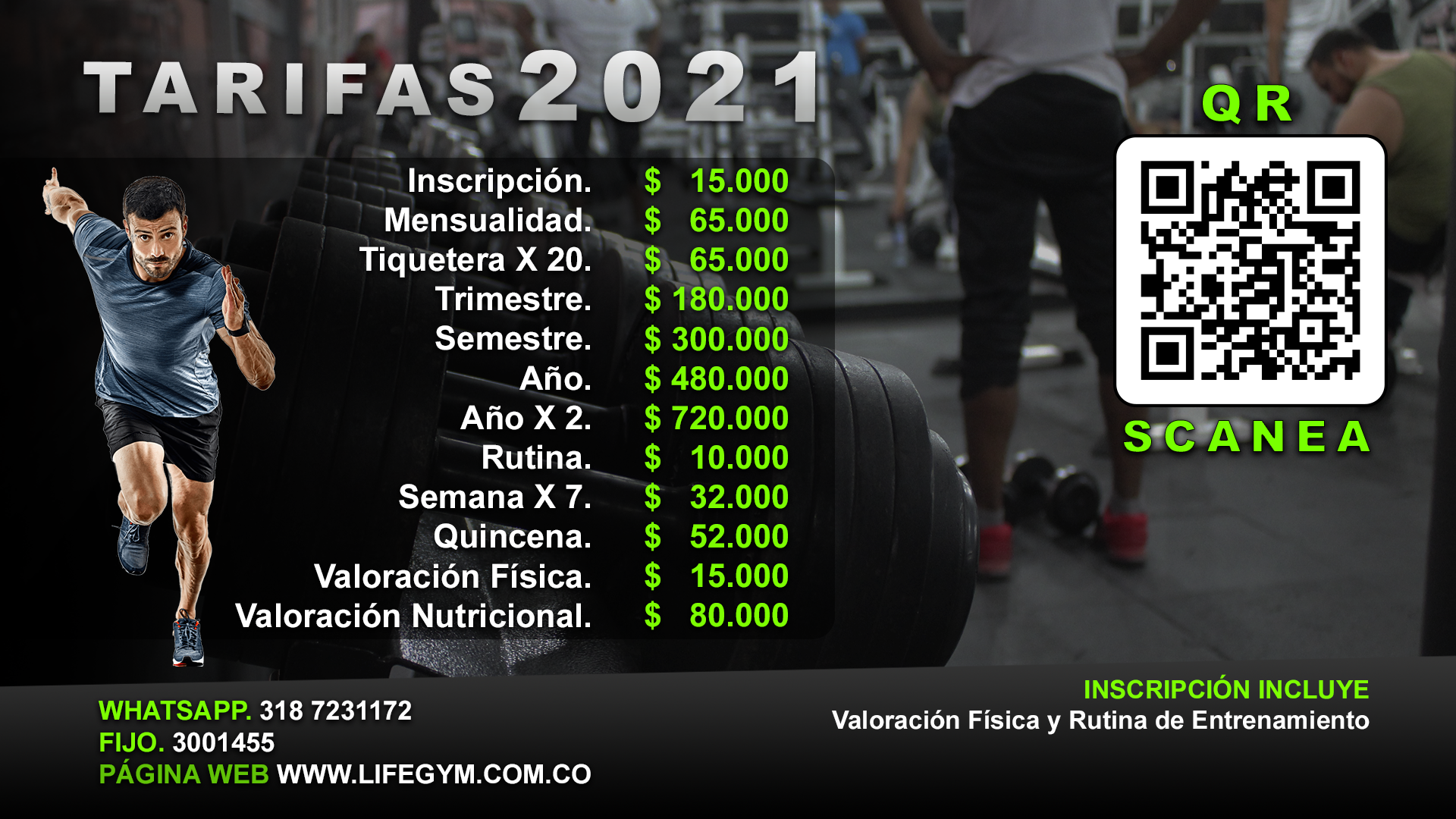 planes de gimnasio Bogotá suba Colombia